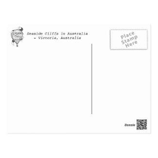 Seaside Cliffs in Australia Postcard