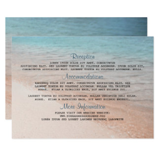 Seaside Destination Wedding Details Card