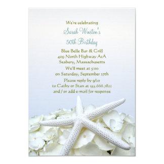 Seaside Garden Starfish Birthday Party Invitation