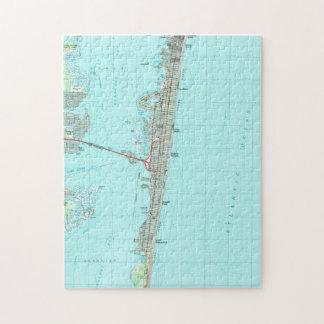 Seaside Park & NJ Shore Map (1989) Jigsaw Puzzle