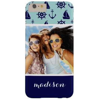 Seaside Pattern | Your Photo & Name Barely There iPhone 6 Plus Case