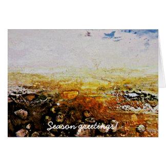 Season greetings from seaside card