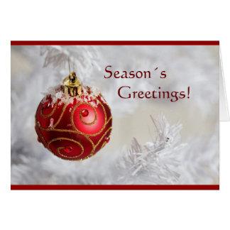 Season´s greetings Christmas card