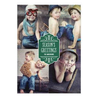 SEASON S GREETINGS COLLAGE HOLIDAY PHOTO CARD