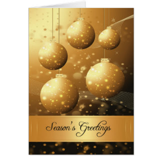 Season s Greetings Holiday Card With Ornaments