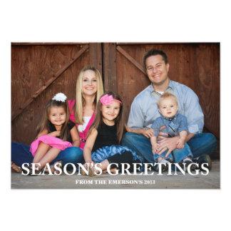 Season s Greetings Overlay Photo Card