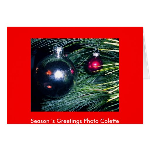 Season´s Greetings Photo Colette... Cards