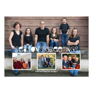 Season s Greetings Photo Collage Modern Holiday Invite