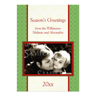 Season s Greetings Photo Template Personalized Announcements