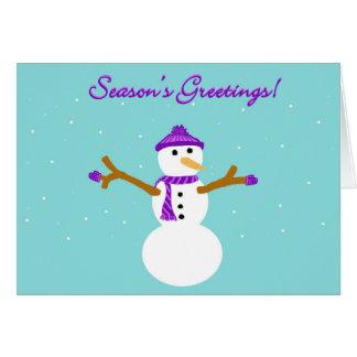 Season s Greetings Snowman Card