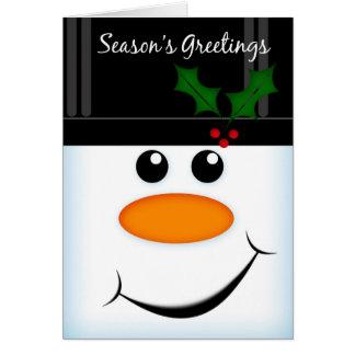 Season s Greetings Snowman Greeting Card