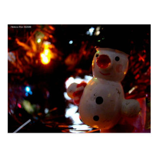 Season s Greetings Snowman Ornament Photo Postcard
