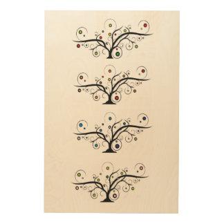 season trees wood wall art