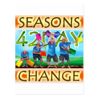 Seasons Change Postcard