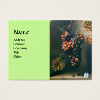SEASON'S FRUITS - PROSPERITY detail,green Business Card