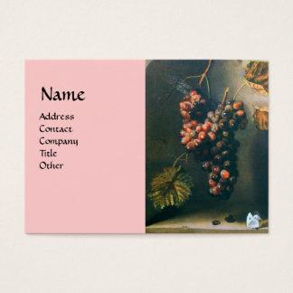 SEASON'S FRUITS - PROSPERITY detail,green pink Business Card