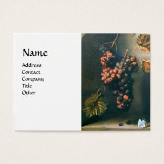 SEASON'S FRUITS - PROSPERITY detail,green white Business Card