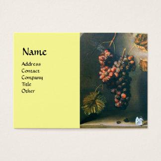 SEASON'S FRUITS - PROSPERITY detail,green yellow Business Card