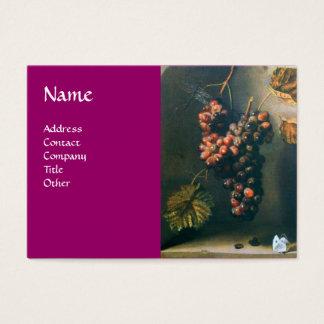 SEASON'S FRUITS - PROSPERITY detail,purple Business Card