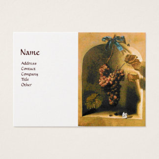 SEASON'S FRUITS -PROSPERITY yellow brown gold Business Card