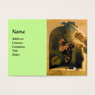 SEASON'S FRUITS -PROSPERITY yellow green brown Business Card