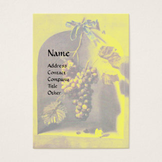 SEASON'S FRUITS - PROSPERITY ,yellow green brown Business Card
