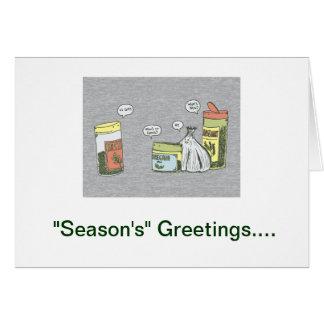 """""""Season's"""" Greeting holiday card"""