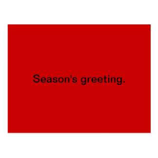 Season's greeting postcard
