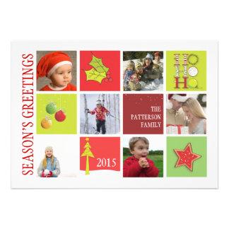 Season's Greeting Theme Six Photo Holiday Card