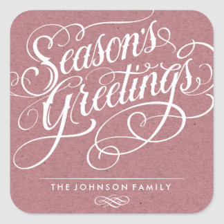 SEASON'S GREETINGS 01 | HOLIDAY GIFT TAG STICKER