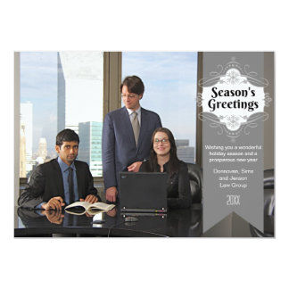"Season's Greetings Business Holiday Photo Card 5"" X 7"" Invitation Card"
