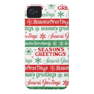 Seasons Greetings iPhone 4 Case-Mate Case