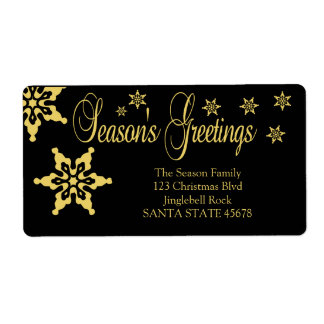 Season's Greetings Chalkboard Holiday Label Shipping Label