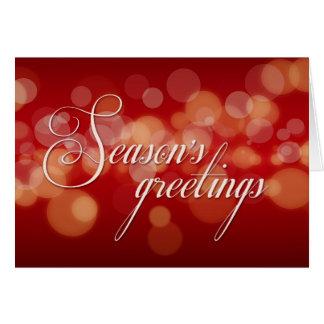 Season's Greetings Christmas Bokeh Holiday card