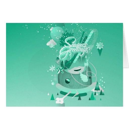 Seasons Greetings Christmas Holiday Card