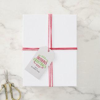 Season's Greetings Christmas Holiday Gift Tags
