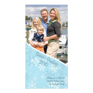 Season's Greetings christmas holiday photo card