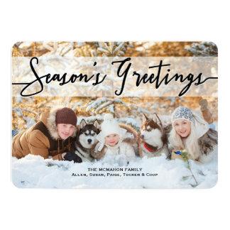 Season's Greetings Christmas Holiday Photo Card 13 Cm X 18 Cm Invitation Card