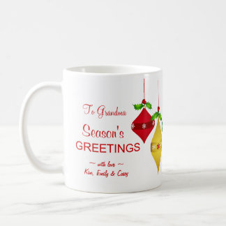 Season's Greetings Christmas Holiday Photo Mug
