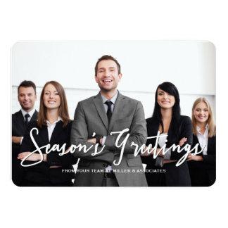 Season's Greetings Corporate Holiday Photo Card 13 Cm X 18 Cm Invitation Card
