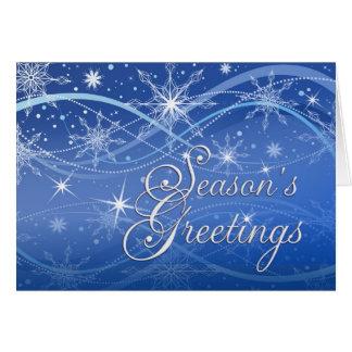 Season's Greetings - Fancy Snowflakes Holiday Card