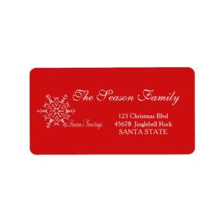 Season's Greetings Holiday Address Label