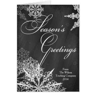 Season's Greetings Holiday Business Greeting Card