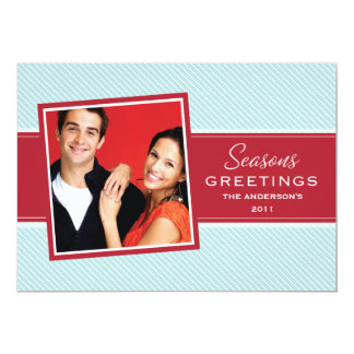 SEASONS GREETINGS   HOLIDAY CARD 13 CM X 18 CM INVITATION CARD