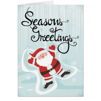 Seasons Greetings Holiday Card with Santa