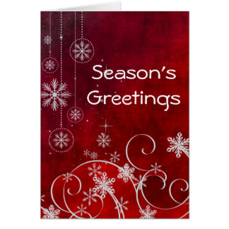 Season's Greetings Holiday Contemporary Red Cards