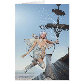 Season's Greetings Holiday Fairy Greeting Card