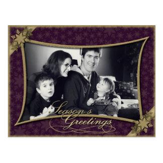 Seasons Greetings Holiday Family Photo Postcard