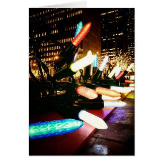 Season's Greetings - Holiday Light Decorations Greeting Card