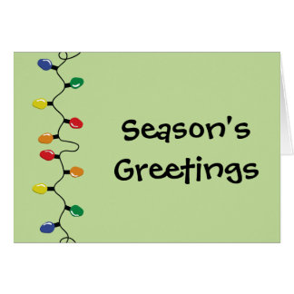 Seasons Greetings Holiday Lights Greeting Card